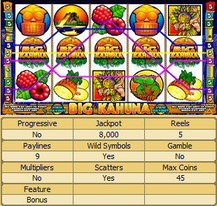 Free Big Kahuna Slot Machine